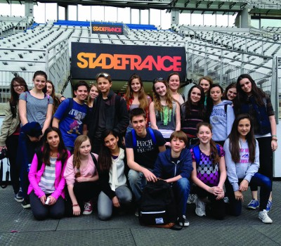 One of the locations that the Paris trip has gone to in the past was the Stade De France like this group from 2012 (Photo from Scroll Archives).