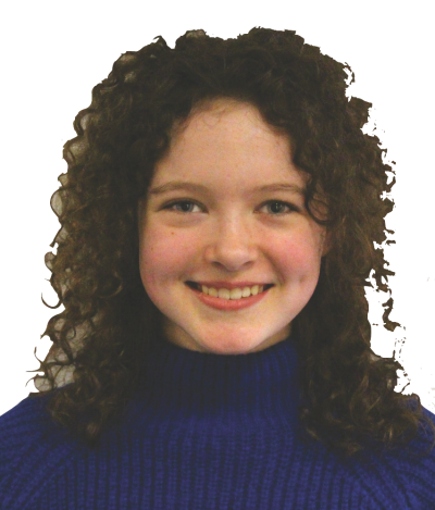 Sixth-grader Eilís Kenney believes that sixth-grade students should not take their school laptops home (photo by Bella Worrell).