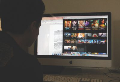 An eighth-grade student browses Netflix when they should be doing homework. Netflix is a popular form of procrastination (photo by Bella Worrell).